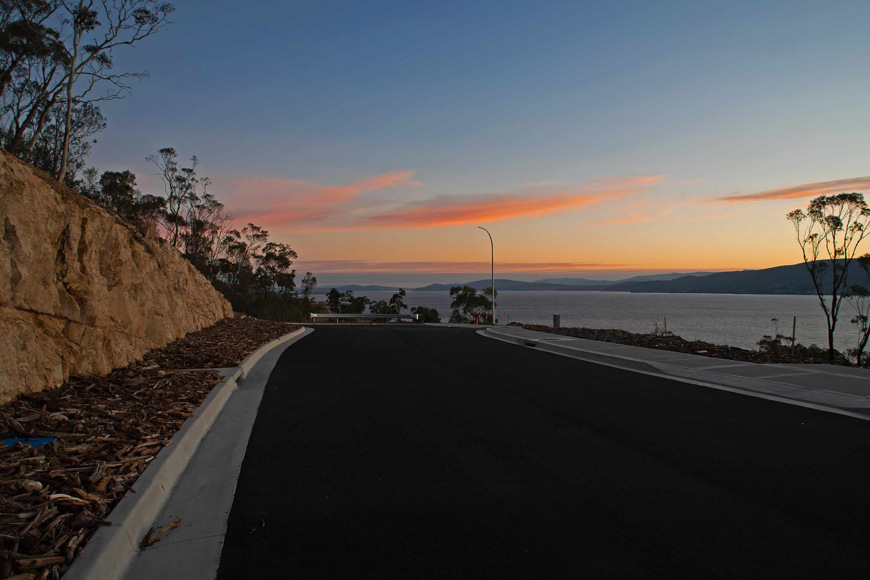 View from Tunah Street looking south at sunset. Photo: Owen Fielding.